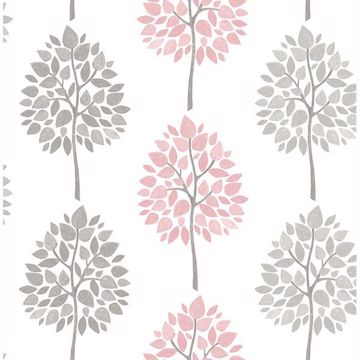 Picture of Saar Pink Tree Wallpaper