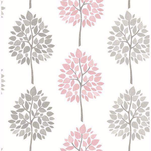 Picture of Saar Pink Tree Wallpaper