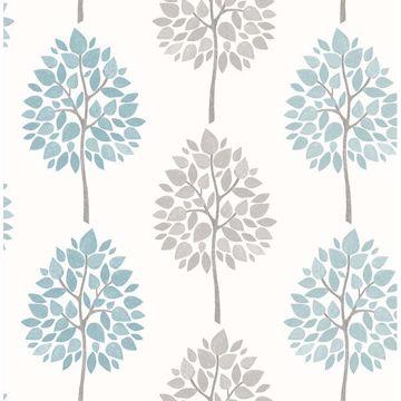 Picture of Saar Aqua Tree Wallpaper