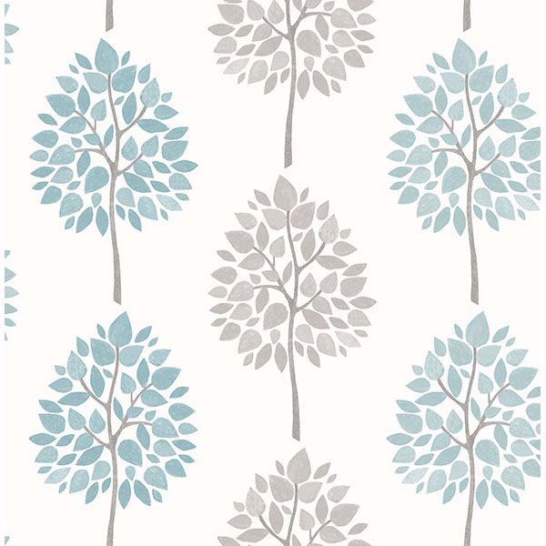 Picture of Saar Aqua Tree Wallpaper