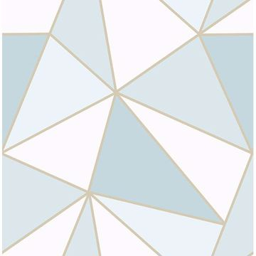 Picture of Apex Blue Geometric Wallpaper