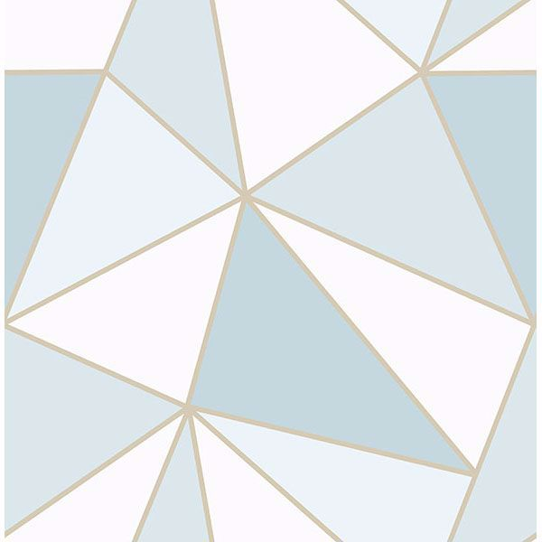 Picture of Apex Blue Geometric Wallpaper