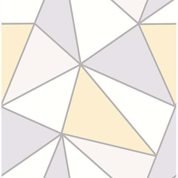 Picture of Apex Yellow Geometric Wallpaper