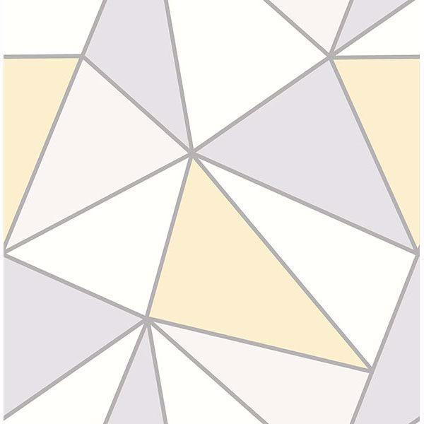 2814 24979 Apex Yellow Geometric Wallpaper By Advantage