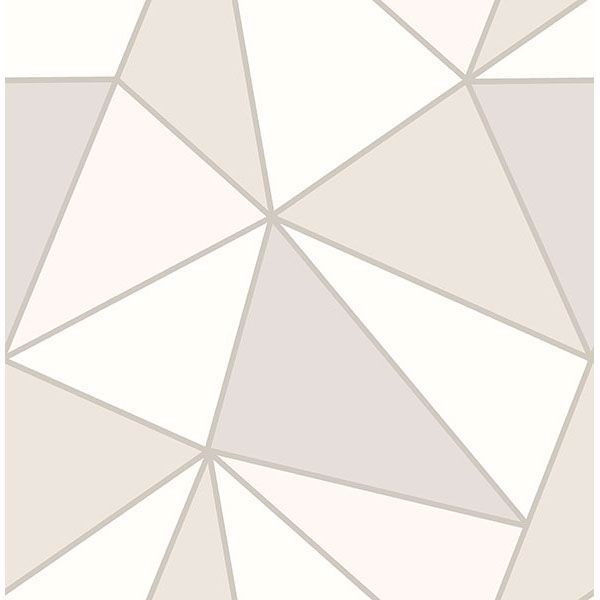 Picture of Apex Taupe Geometric Wallpaper