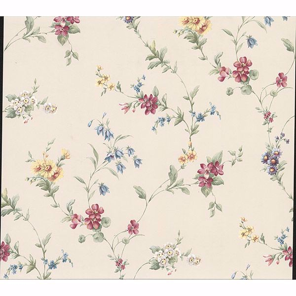 Picture of Marcus Cream Floral Trail Wallpaper