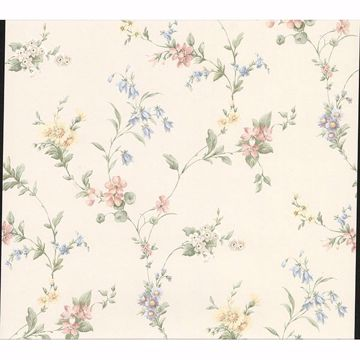 Picture of Marcus Multicolor Floral Trail Wallpaper