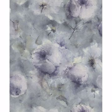 Picture of Innocent Blue Watercolor Floral Wallpaper
