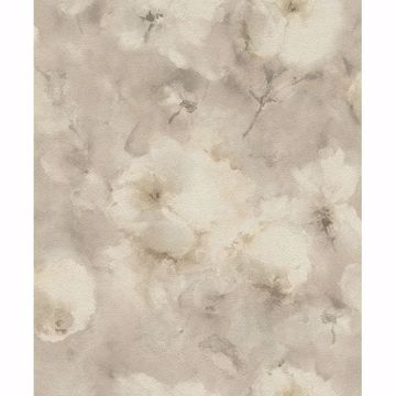 Picture of Innocent Beige Watercolor Floral Wallpaper