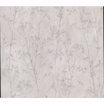 Picture of Tanner Grey Floral Silhouette Wallpaper
