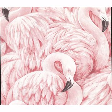 Picture of Horace Light Pink Flamingos Wallpaper