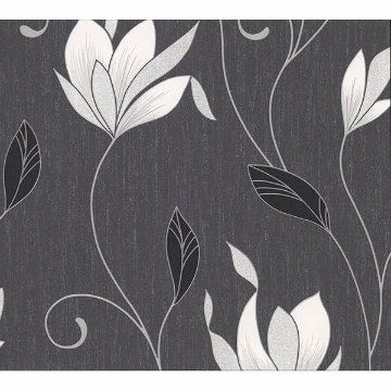 Picture of Gallagher Charcoal Floral Trail Wallpaper