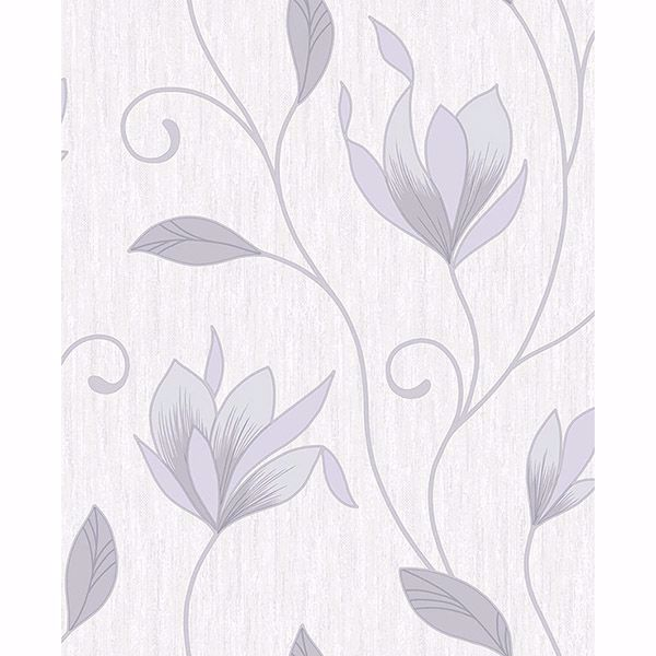 Picture of Gallagher Ivory Floral Trail Wallpaper