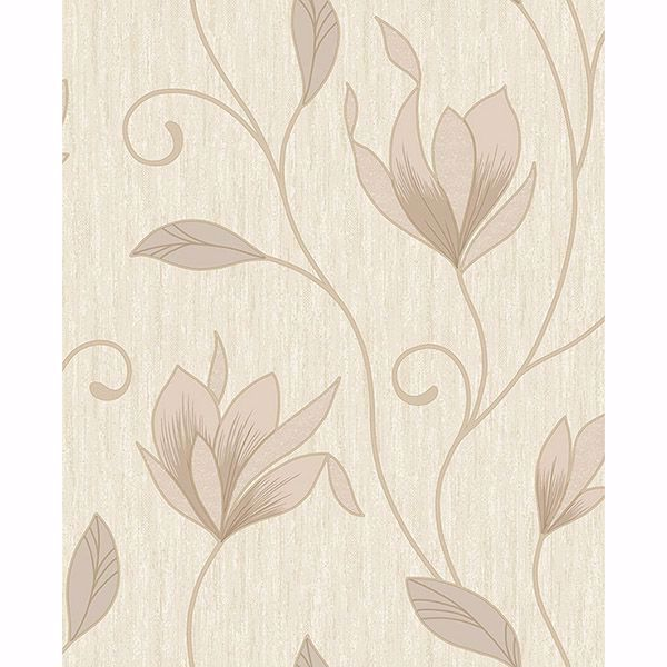 Picture of Gallagher Champagne Floral Trail Wallpaper