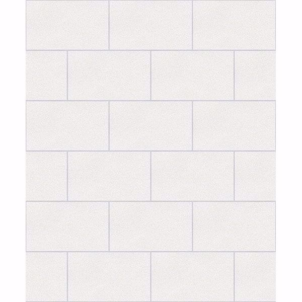 Picture of Neale White Subway Tile Wallpaper