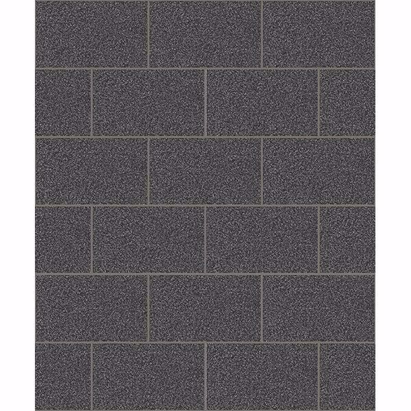 Picture of Neale Black Subway Tile Wallpaper