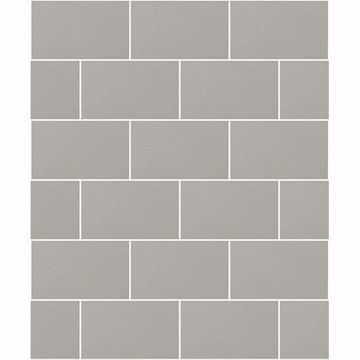 Picture of Neale Light Grey Subway Tile Wallpaper
