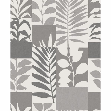 Picture of Hammons Silver Block Botanical Wallpaper