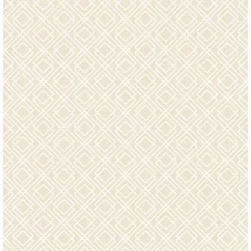 Picture of Puck Wheat Geometric Wallpaper