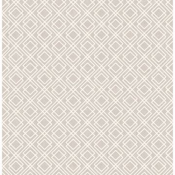 Picture of Puck Light Brown Geometric Wallpaper