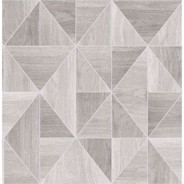 Picture of Corin Light Grey Wood Geometric Wallpaper
