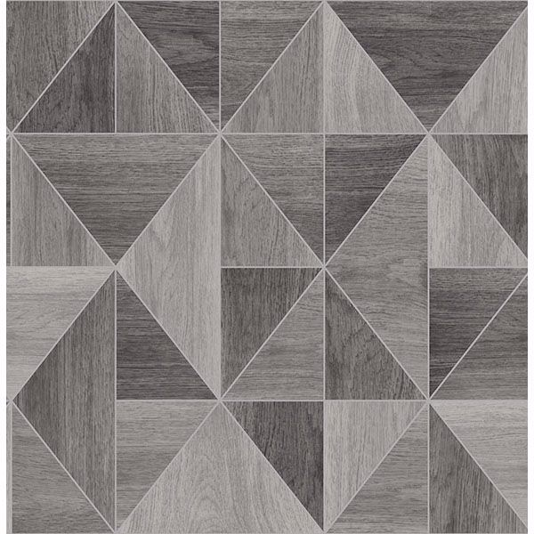 Picture of Corin Grey Wood Geometric Wallpaper