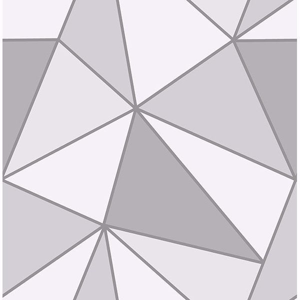 Picture of Polonius Grey Geometric Wallpaper