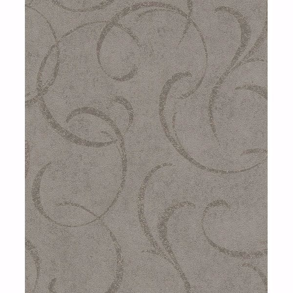 Picture of Lysander Taupe Scrolls Wallpaper