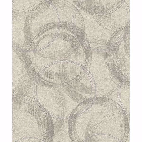 Picture of Yorick Taupe Distressed Circle Wallpaper