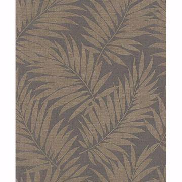 Picture of Regan Dark Brown Palm Fronds Wallpaper