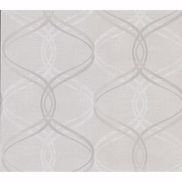 Picture of Fleance Light Grey Ogee Wallpaper