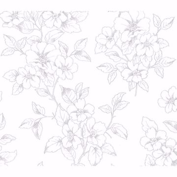 Picture of Romeo Off-White Floral Trail Wallpaper