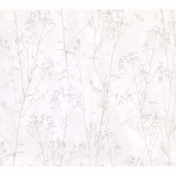 Picture of Cordelia Off-White Floral Silhouettes Wallpaper