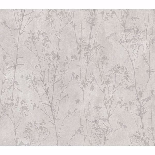 Picture of Cordelia Light Grey Floral Silhouettes Wallpaper