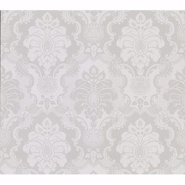 Picture of Juliet Light Grey Damask Wallpaper