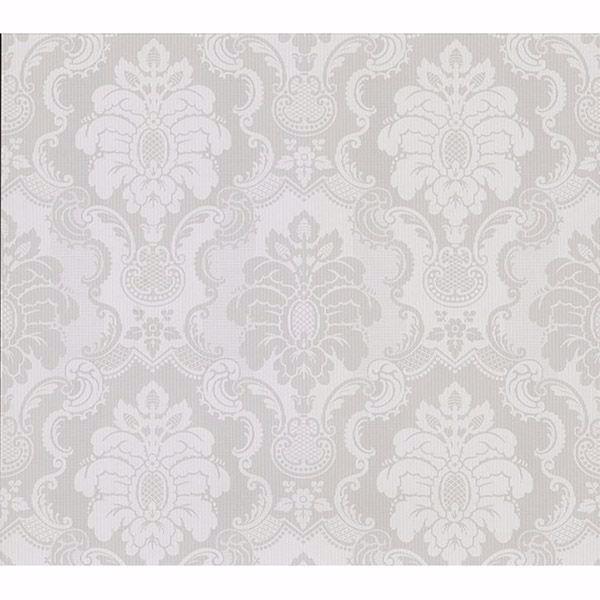 Picture of Juliet Light Grey Damask Wallpaper