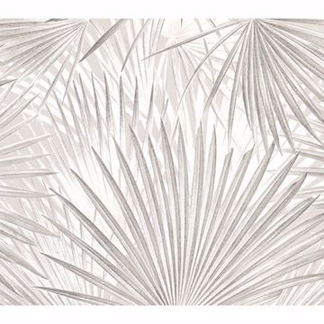 Picture of Macduff Silver Palm Fronds Wallpaper