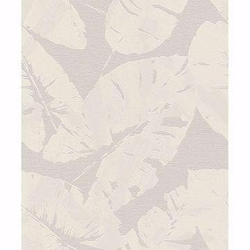 Picture of Shylock Light Grey Banana Leaf Wallpaper