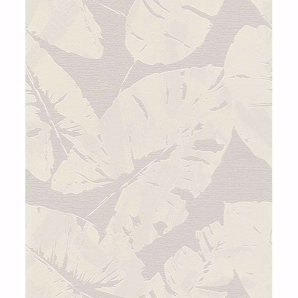 Picture of Shylock Light Grey Banana Leaf Wallpaper