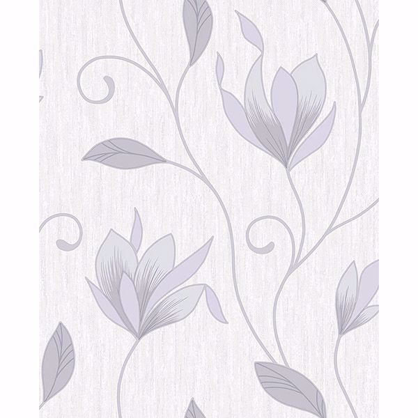 Picture of Mercutio Grey Floral Trail Wallpaper
