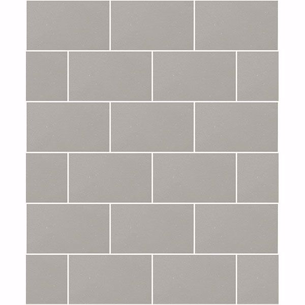 Picture of Angelo Grey Subway Tile Wallpaper
