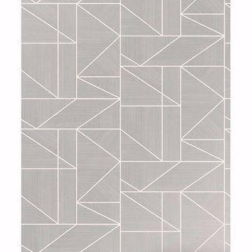Picture of Malvolio Silver Geometric Wallpaper