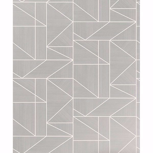 Picture of Malvolio Silver Geometric Wallpaper