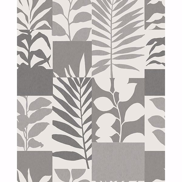 Picture of Goneril Grey Botanical Geometric Wallpaper