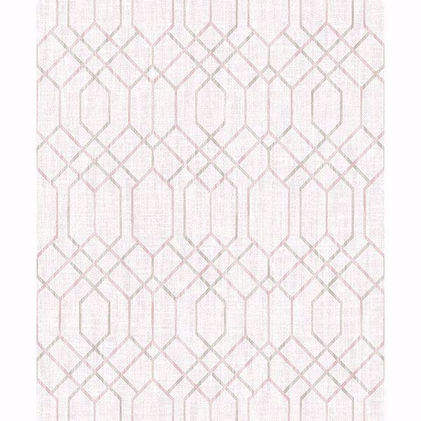 Picture of Lyla Pink Trellis Wallpaper