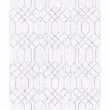 Picture of Lyla Grey Trellis Wallpaper