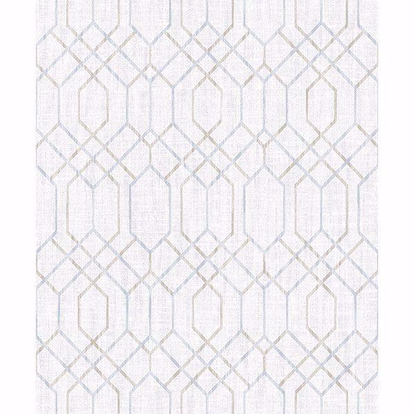 Picture of Lyla Grey Trellis Wallpaper