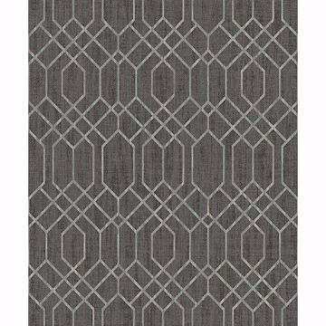 Picture of Lyla Brown Trellis Wallpaper