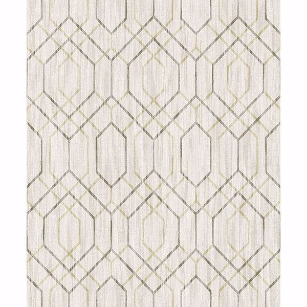 Picture of Lyla Beige Trellis Wallpaper