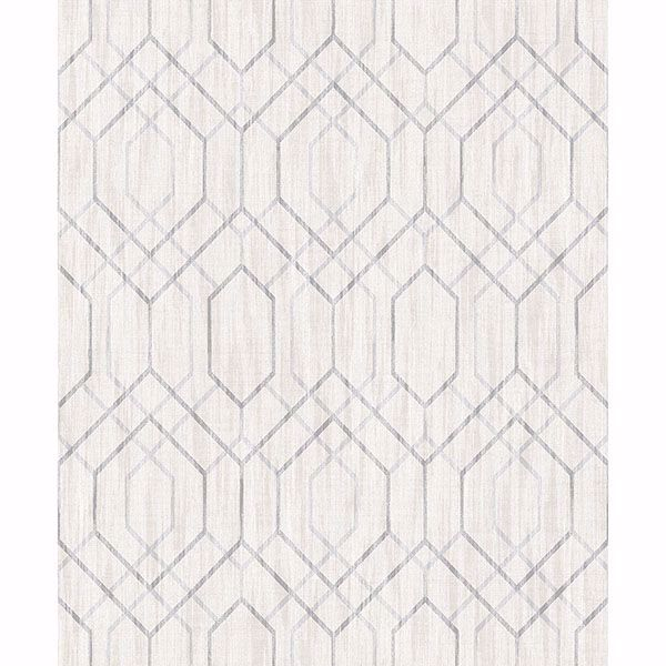 Picture of Lyla Multicolor Trellis Wallpaper